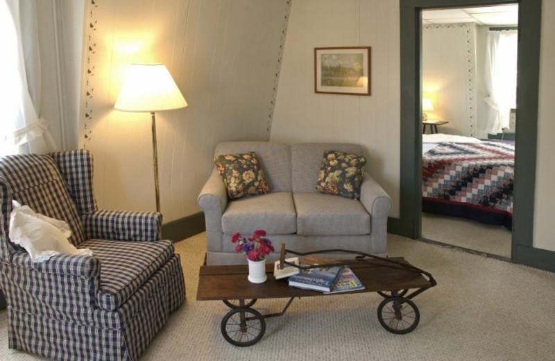 Guest room at Yardarm Village Inn.