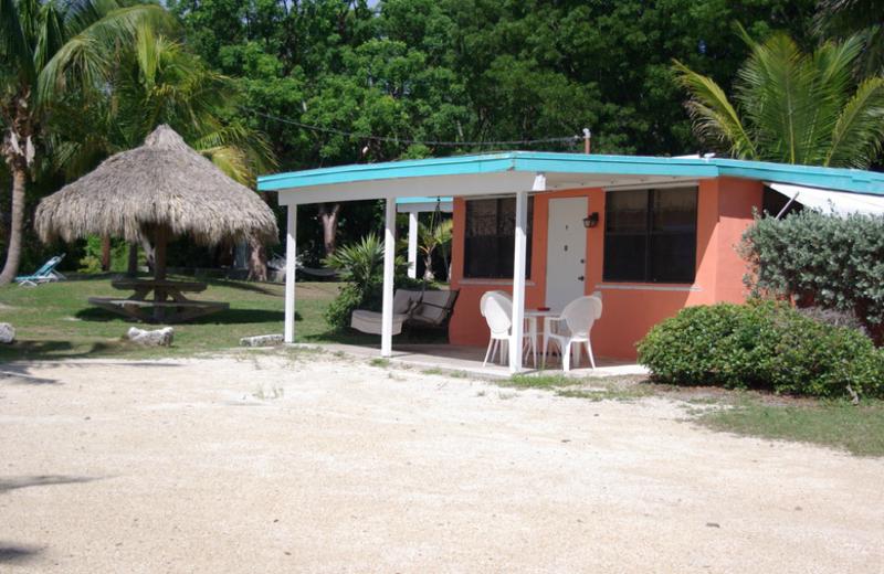 Cottage exterior at Rock Reef Resort.