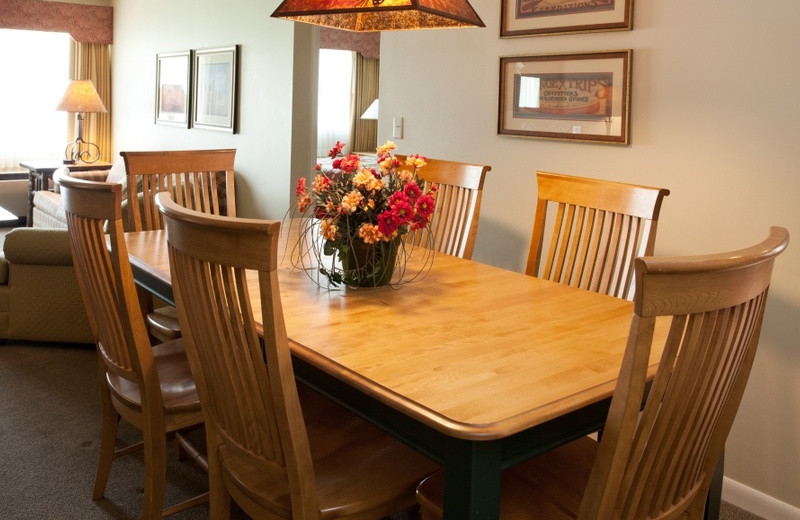 Condo dining room at Grand Traverse Resort.