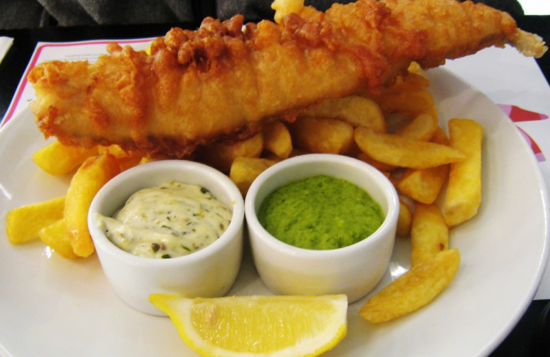 Fish and chips at The Lighthouse Inn at Aransas Bay.