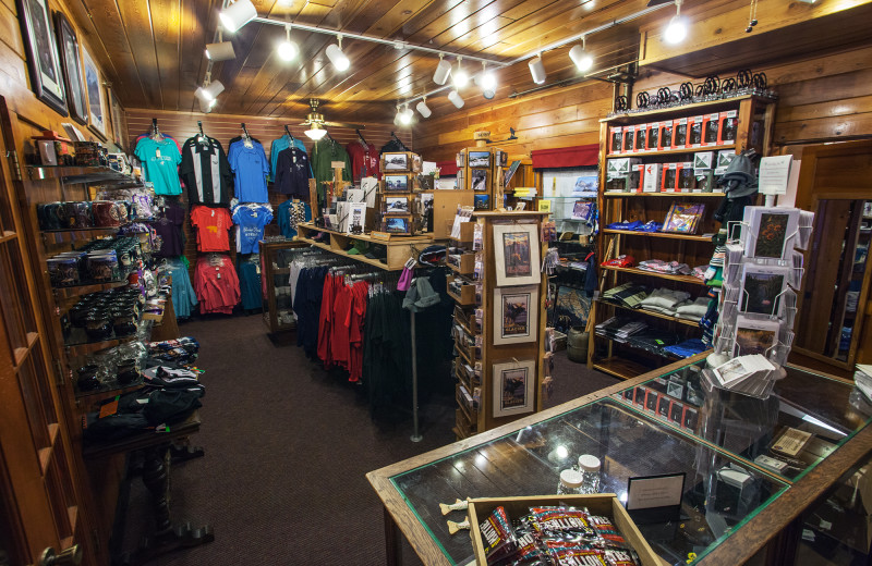 Gift shop at Izaak Walton Inn.