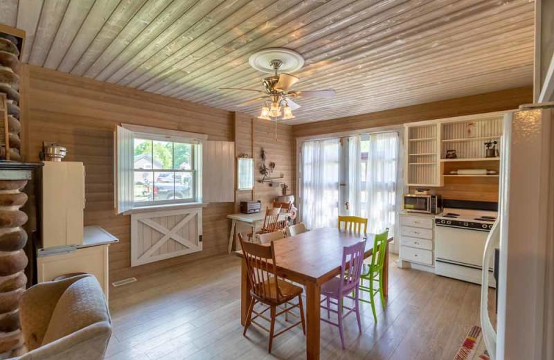 Cabin interior at The Red Door Resort.