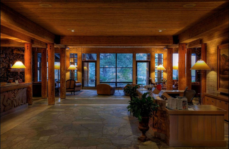 Lobby view at Sun Mountain Lodge.