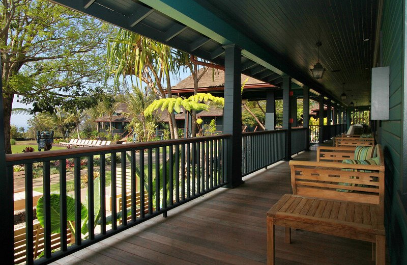The porch at Lumeria Maui.