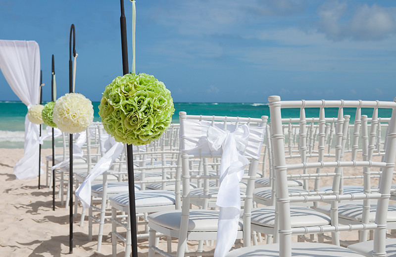 Beach wedding at The Plaza Suites.