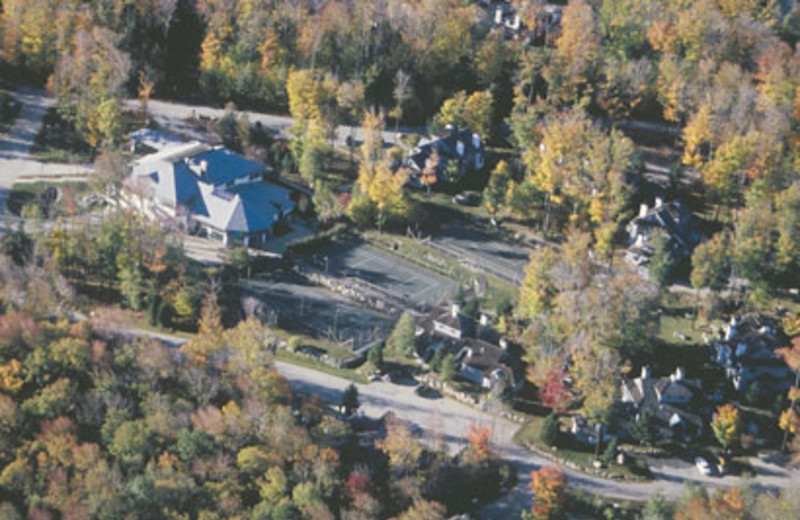 Aerial view of The Woods Resort & Spa.