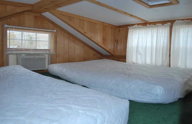 Cabin loft at Gulf Pines RV Park.