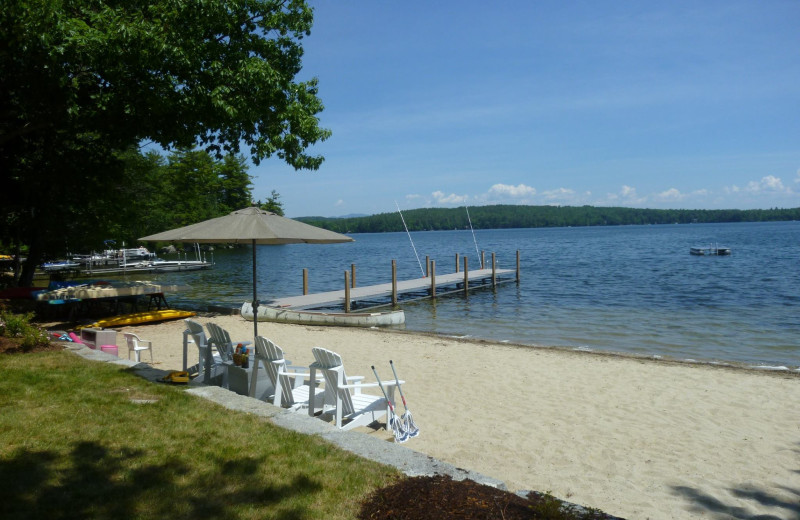 Rental beach at At the Lakes Vacation Rentals.