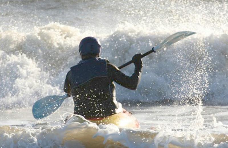Kayaking near Beach Walk Oceanfront Inn.