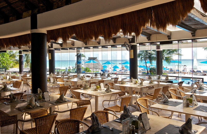 Dining at The Reef Playacar-All Inclusive.