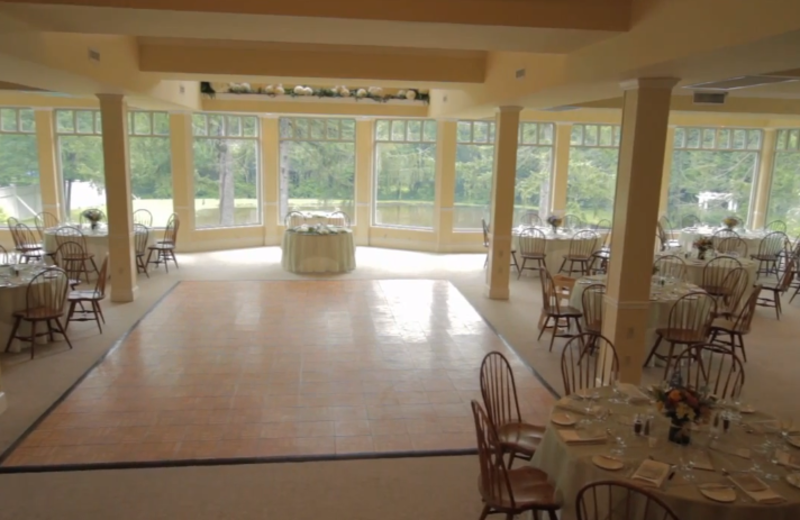 Banquet Hall at Mountain Springs Lake Resort.