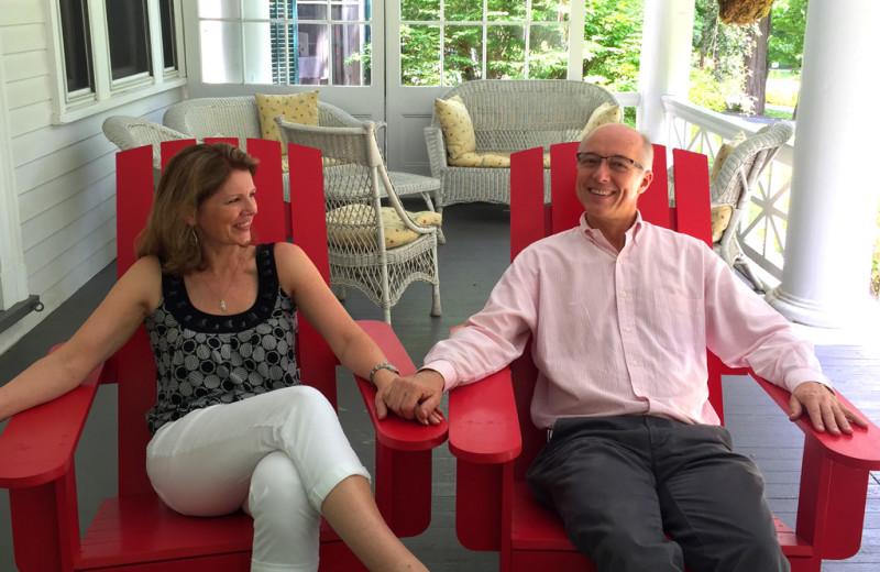 Couple at Birchwood Inn.