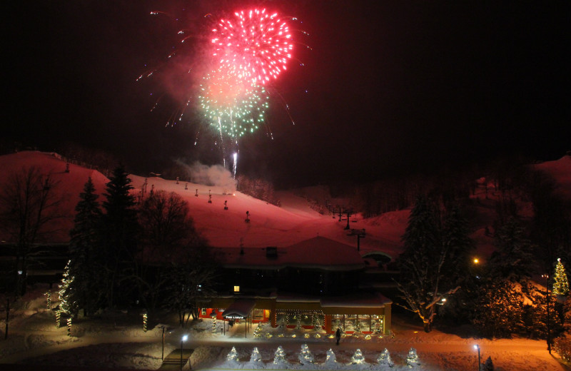 Fireworks at Crystal Mountain Resort.