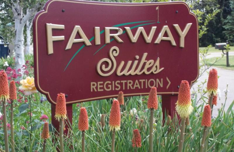 Entrance at Fairway Suites.