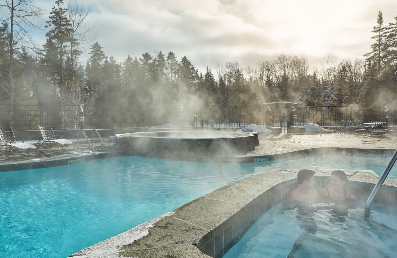 Heated pool at The Whiteface Lodge.