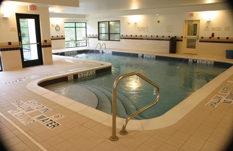 Indoor pool at SpringHill Suites Erie.