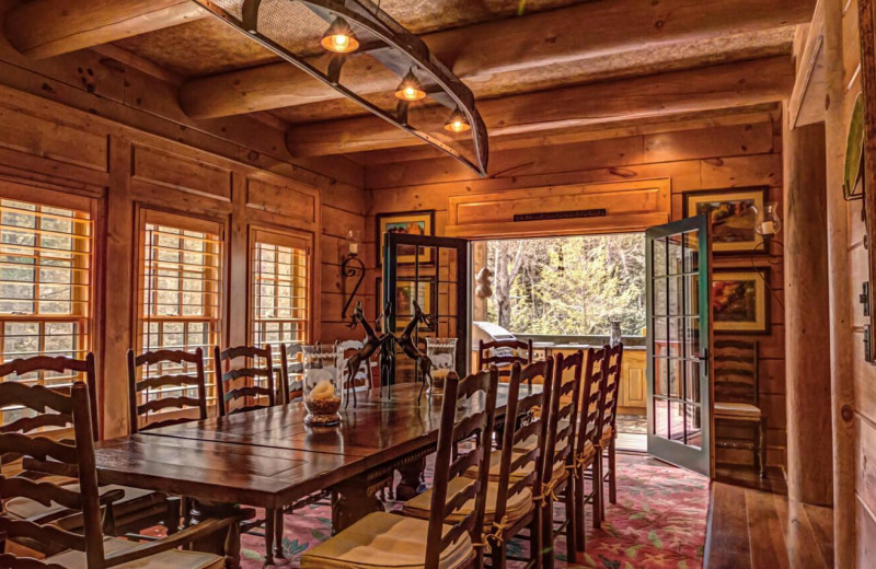 Dining room at The Lodge at River Run.