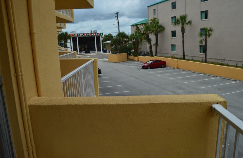 Balcony at Fountain Beach Resort.