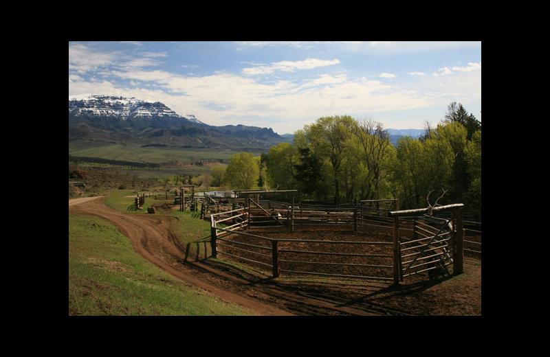 Ranch view at Rimrock Dude Ranch.