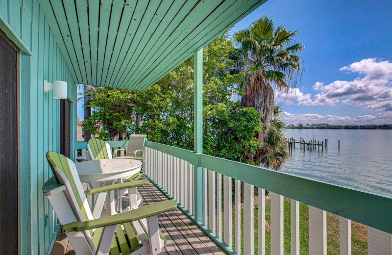 Rental balcony at Anna Maria Island Beach Rentals, Inc.
