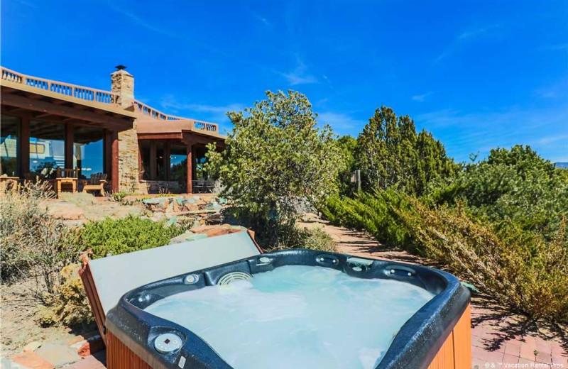 Rental hot tub at Vacation Rental Pros - Santa Fe.