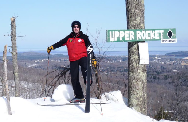 Skiing at Marquette Mountain Ski Area.