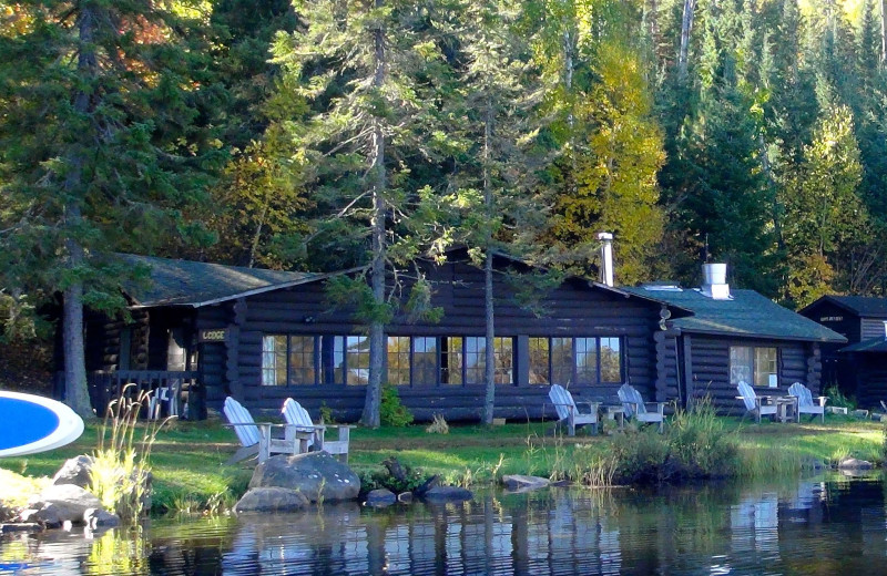 Exterior view of Loon Lake Lodge.