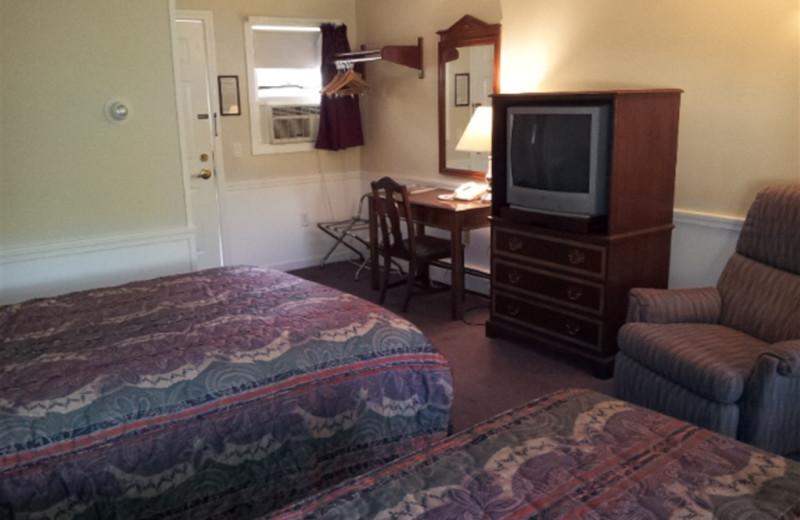 Guest room at Highland Lake Resort.