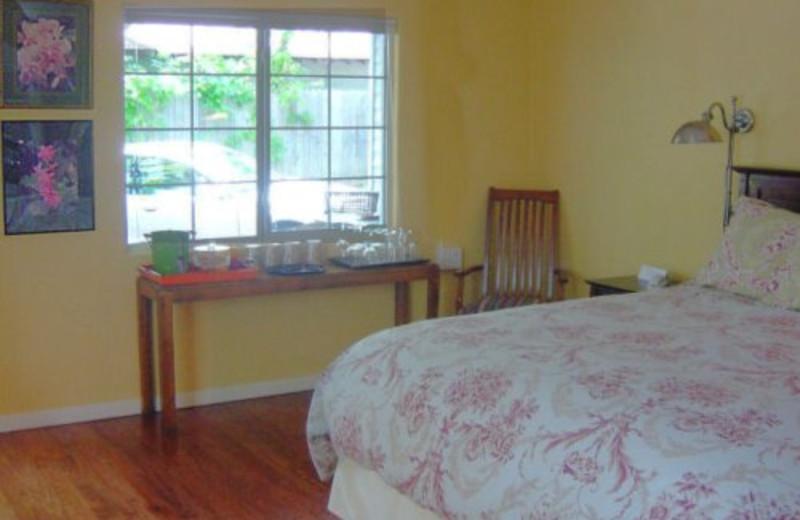 Guest room at Comal Inn.
