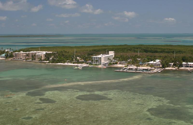 Aerial view of Hampton Inn & Suites Islamorada.