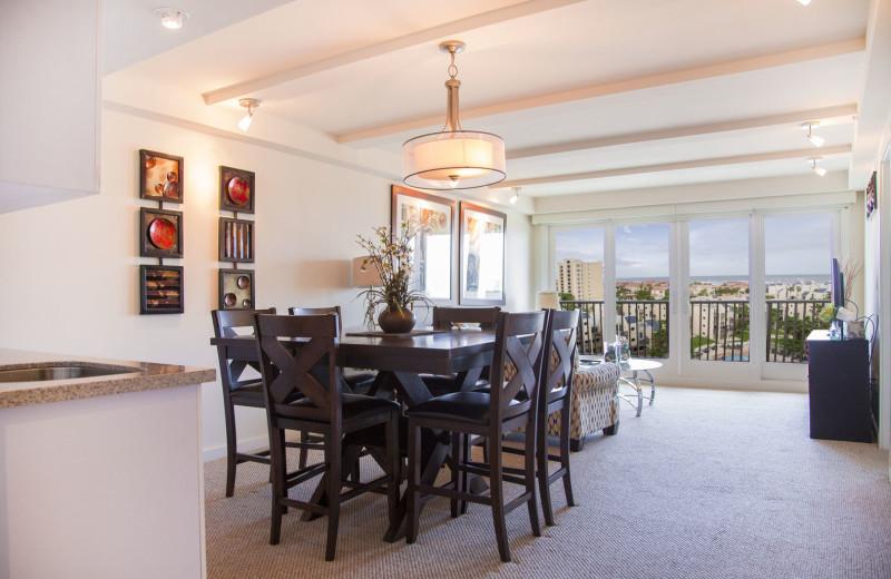 Rental dining room at La Isla VR - South Padre.