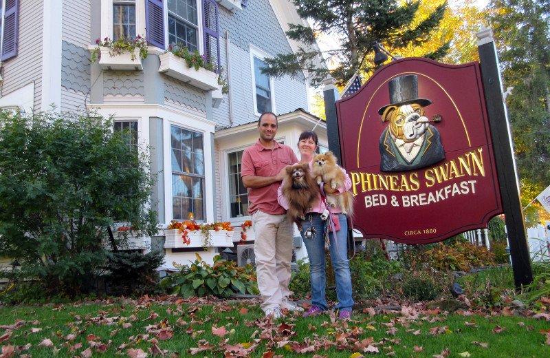 Pets welcome at Phineas Swann Bed and Breakfast.