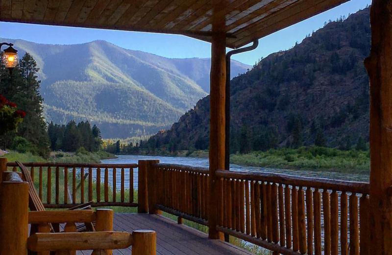 Guest porch at Quinn's Hot Springs Resort