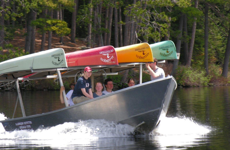Canoeing at Wolf Den Hostel and Nature Retreat.