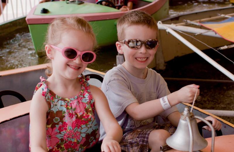 Kiddie rides at Indiana Beach Amusement Resort.
