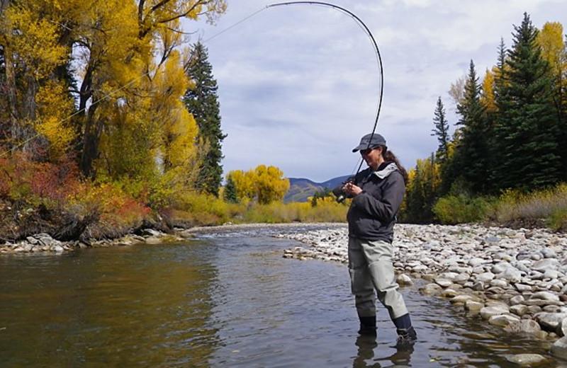 Fishing at Three Rivers Resort.