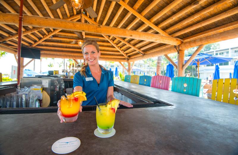Tiki bar at Hawks Cay Resort.
