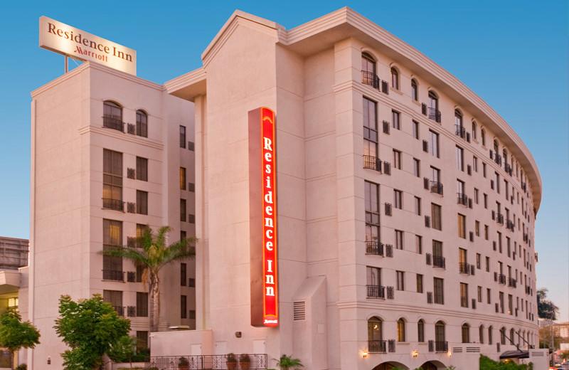 Exterior view of Renaissance Beverly HIlls Hotel.