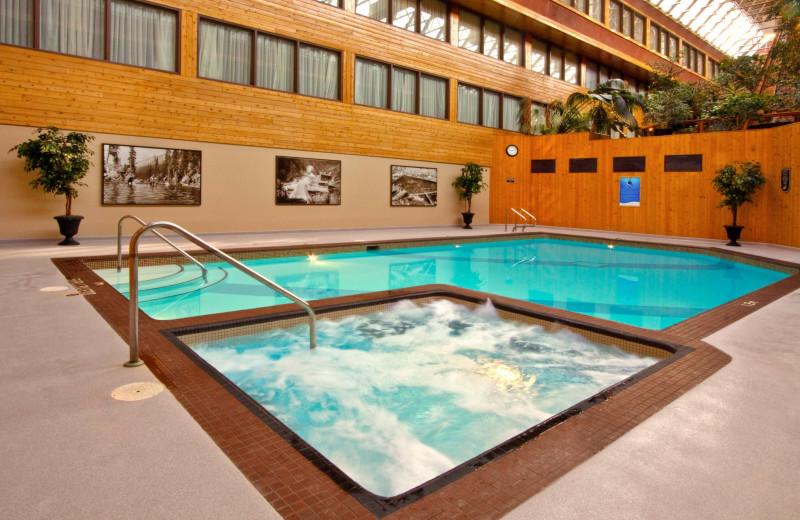 Pool at Sawridge Hotel Jasper.