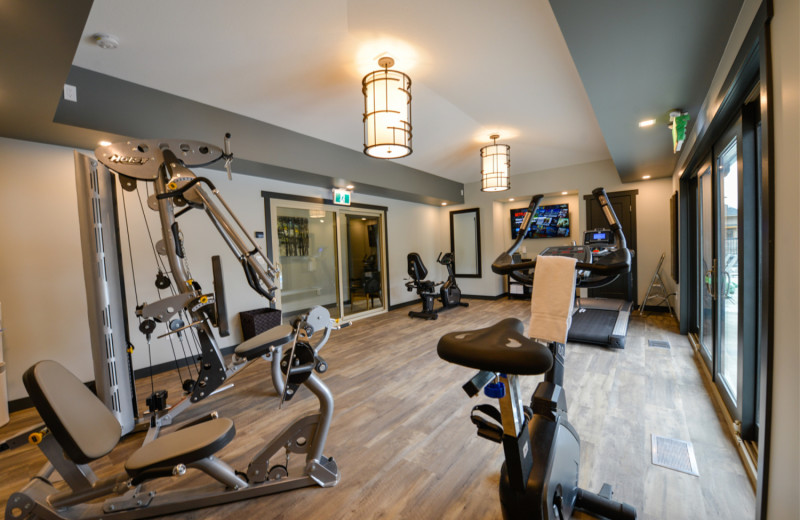 Gym at Bighorn Meadows Resort.