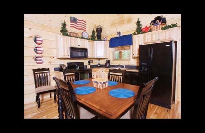 Cabin kitchen at Eden Crest Vacation Rentals, Inc. - American Bear.