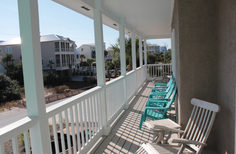 Rental balcony at Seagrove On The Beach Property Rentals.