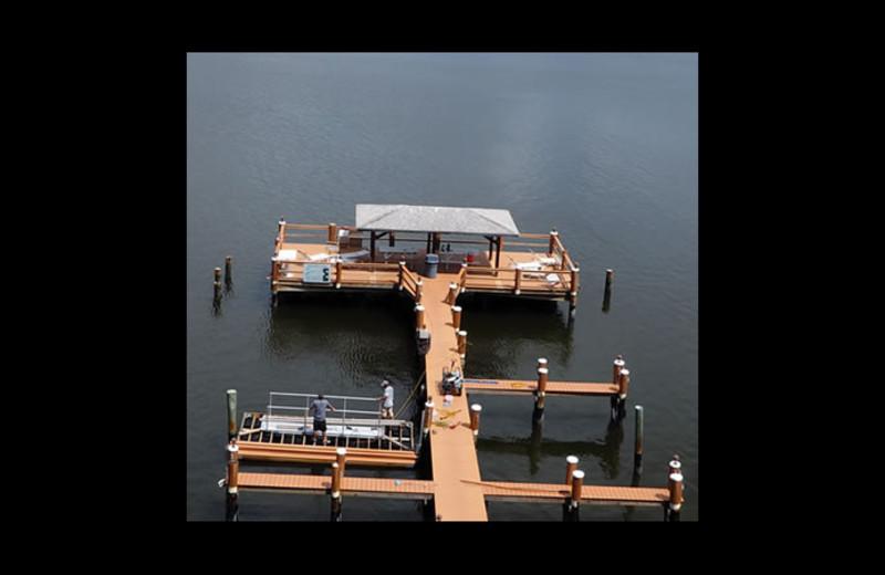 Fishing dock at Sunrise Bay Resort & Club Condominium.