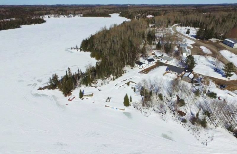 Aerial view of Bay Wolf Camp.
