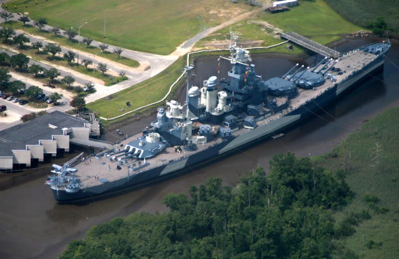 USS North Carolina near The Winds Resort Beach Club.