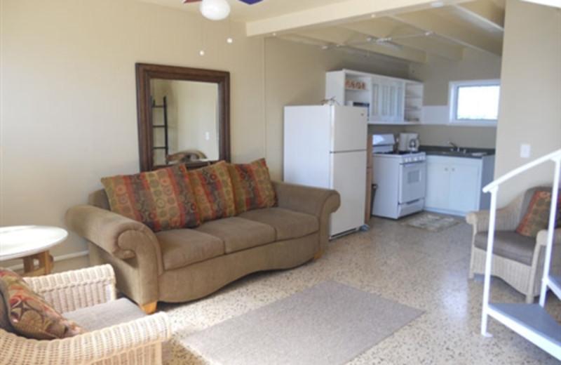 Rental living room at Paradise Cove Resort.