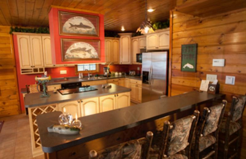 Villa kitchen at Chippewa Retreat Resort.