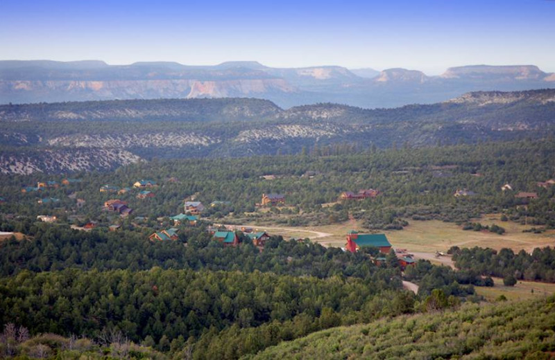 Aerial view of Zion Ponderosa Ranch.