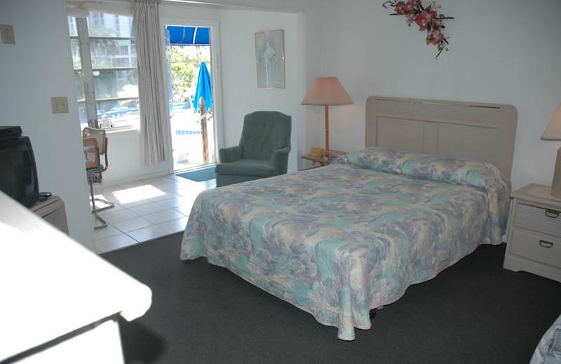 Guest room at Dolphin Inn.