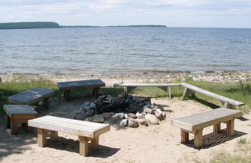 Fire pit at Bay Shore Inn.
